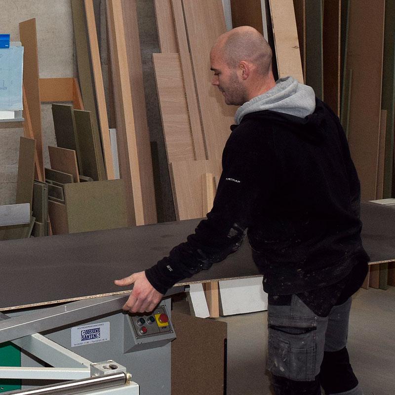 Seppe Schillemans in het atelier