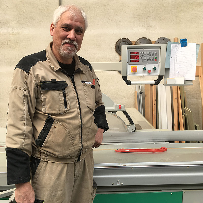 Karl in het atelier